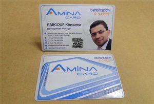Sampel prining kartu nama bisnis dari desktop uv printer -A2 ukuran WER-D4880UV