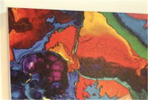 Contoh pencetakan kanvas dari WER-E2000UV