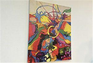Sampel kanvas dicetak oleh printer uv ukuran A1 WER-EP6090UV