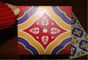 Sampel ubin keramik dicetak pada printer A2 uv WER-D4880UV